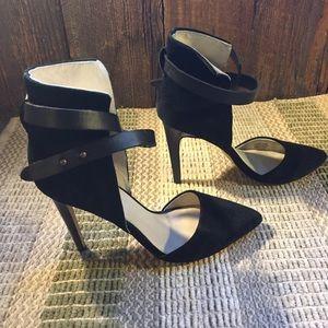 Joe's Jeans Black Suede Heels